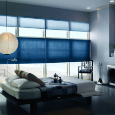 Bali DiamondCell Double Cell Light Filtering Shades room scene