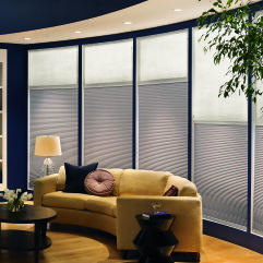 "Bali DiamondCell 3/8"" Single Cell Blackout Shades room scene"