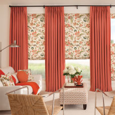 Bali Custom Pinch Pleat Draperies room scene