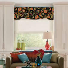 Bali Fabric Wrapped Contour Cornices room scene