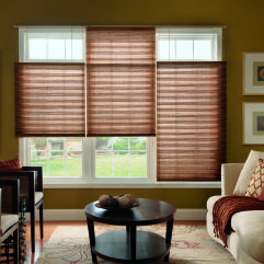 "Bali NeatPleat 2"" Light Filtering Shades room scene"