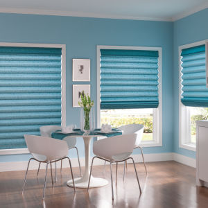 Bali Casual Classics Looped Style Roman Shades Room Setting