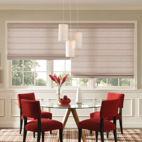 Bali Casual Classics Flat Panel Roman Shades  Room Setting