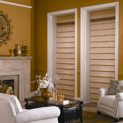 Bali Tailored Looped Roman Shades room scene