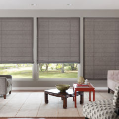 Bali Tailored Classic Flat Roman Shades room scene