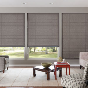 Bali Tailored Classic Flat Roman Shades Room Setting