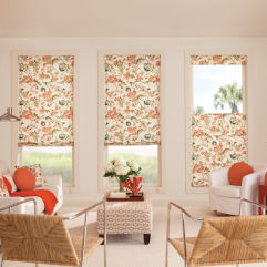 Bali Tailored Seamless Roman Shades room scene