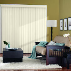 Bali Essentials Vinyl Vertical Blinds room scene