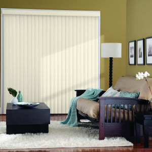 Bali Essentials Vinyl Vertical Blinds Room Setting