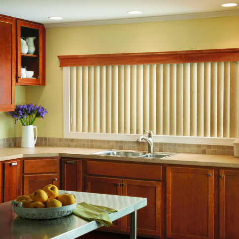 Bali Vinyl Vertical Blinds Room Setting