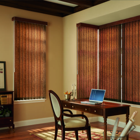 Bali Fabric Vertical Blinds Room Setting