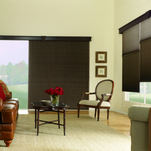 Bali VertiCell Blackout Single Cell Shades Room Setting