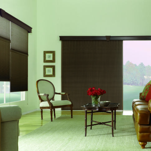 Bali VertiCell Light Filtering Single Cell Shades Room Setting