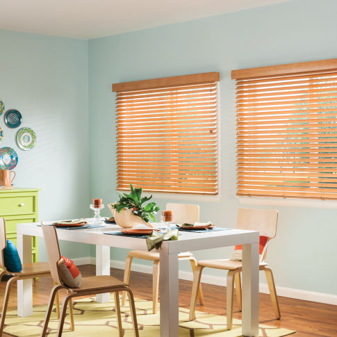 "Bali Essentials 2"" Wood Blinds Room Setting"