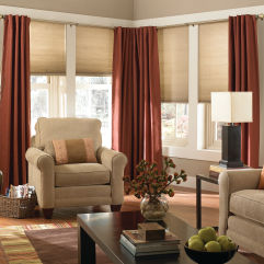 "BlindSaver Basics 3/8"" Single Cell Cordless Cellular Shades room scene"