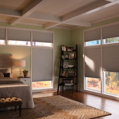 "BlindSaver Advantage 3/4"" Single Cell Blackout Shades room scene"