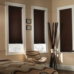 "BlindSaver Basics 1/2"" Single Cell Cordless Blackout Shades room scene"