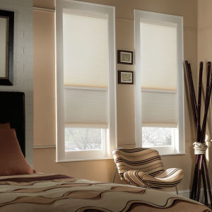 "BlindSaver Basics Day/Night 1/2"" Cordless Cellular Shades Room Setting"