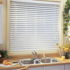 "BlindSaver Advantage 2-1/2"" Faux Wood Blinds room scene"