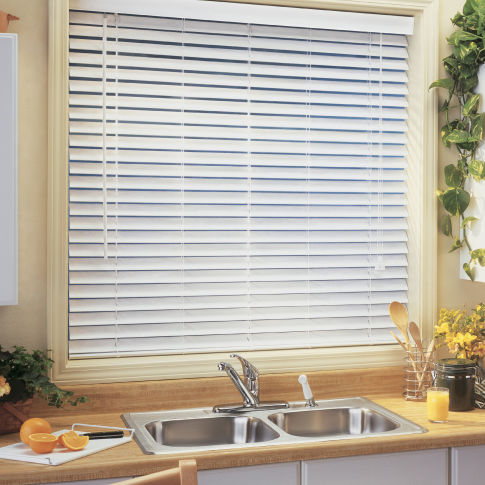 "BlindSaver Advantage 2-1/2"" Faux Wood Blinds Room Setting"