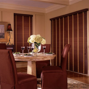 "BlindSaver Advantage 2"" WoodTones Wood Alloy Blinds Room Setting"