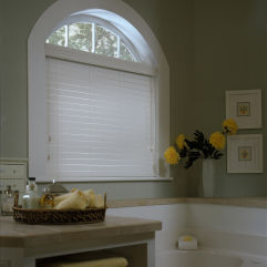 BlindSaver Advantage NiteGuard™ Privacy Faux Wood Blinds room scene