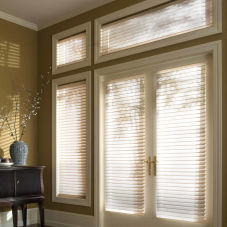 "BlindSaver Advantage 2"" Light Filtering DoorStyle Shadings room scene"