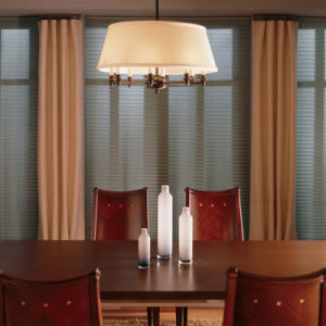 BlindSaver Advantage No-Holes Blackout Pleated Shades Room Setting