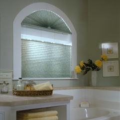 "BlindSaver Advantage 2"" Pleated Shades room scene"