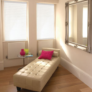 BlindSaver Basics Cordless Pleated Shades Room Setting