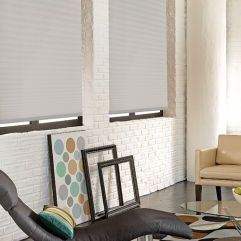 BlindSaver Basics Cordless Pleated Shades room scene