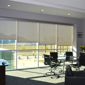 BlindSaver Commercial Phifer Sheerweave Solar Screens Room Setting