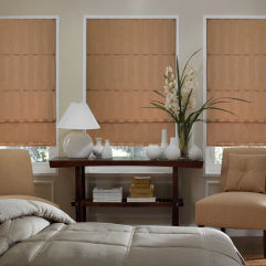 BlindSaver Advantage Custom Roman Shades room scene