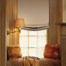 BlindSaver Advantage Custom European Fold Roman Shades room scene