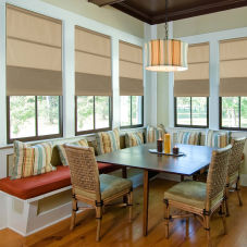 BlindSaver Basics Completely Cordless Roman Shades room scene