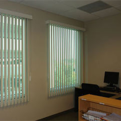 BlindSaver Basics Vinyl Vertical Blinds room scene