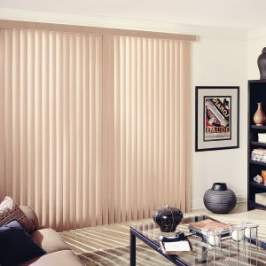 BlindSaver Advantage Fabric Vertical Blinds Room Setting
