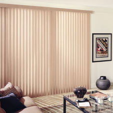 BlindSaver Advantage Fabric Vertical Blinds room scene