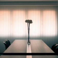 BlindSaver Basics Fabric Vertical Blinds room scene