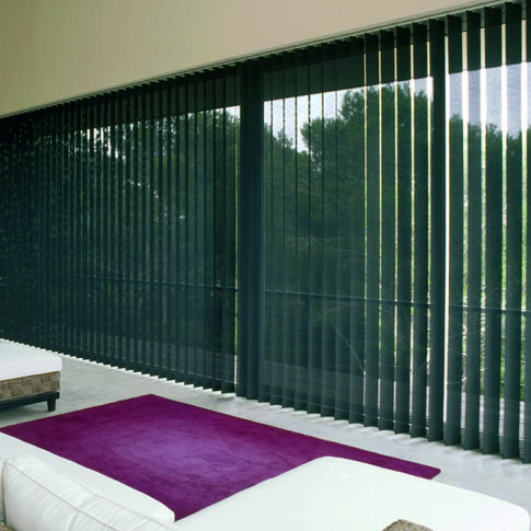 BlindSaver Basics Fabric Vertical Blinds Room Setting