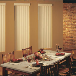 BlindSaver Advantage Vinyl Vertical Blinds Room Setting