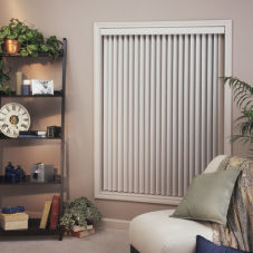 BlindSaver Advantage Vinyl Vertical Blinds room scene