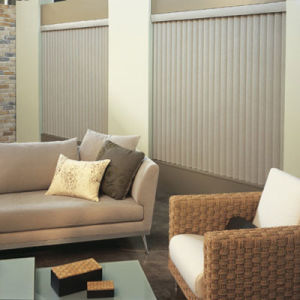 BlindSaver Advantage S-Curve Vinyl Vertical Blinds Room Setting