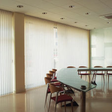 BlindSaver Commercial Vinyl Vertical Blinds room scene