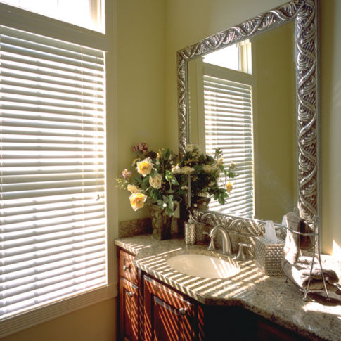 "BlindSaver Basics 2""  Wood Blinds Room Setting"