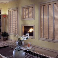 "BlindSaver Express 2"" Wood Blinds room scene"