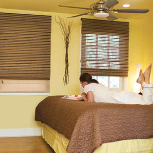 BlindSaver Basics Woven Wood Shades Room Setting