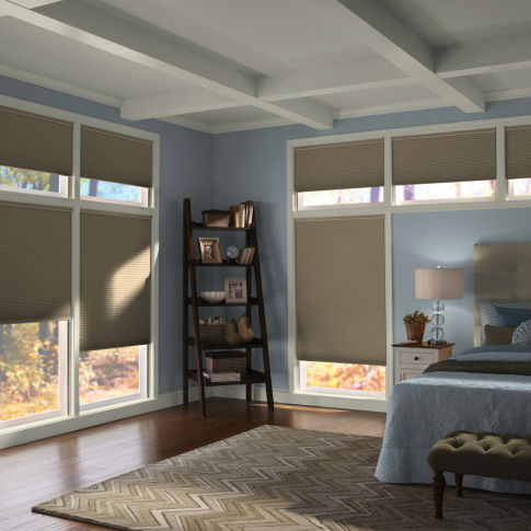 Comfortex Signature Collection Blackout Double Cell Shades Room Setting