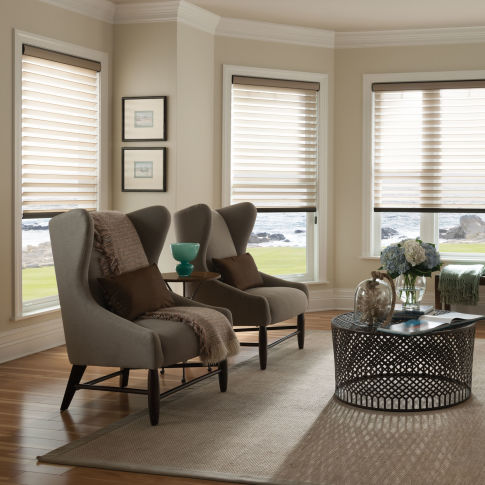 "Comfortex Shangri-La 2"" Window Shadings Room Setting"