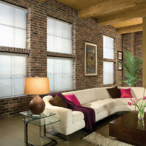 "Comfortex Shangri-La 3"" Window Shadings Room Setting"
